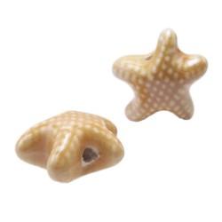 Perline in ceramica stella marina cipria 19x10 mm pacco 1 pezzo