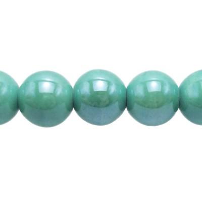 Perline in ceramica tonde 14 mm tiffany pacco 2 pezzi