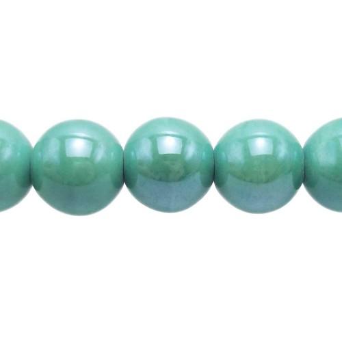 Bracciale tecnica wire | Perline in ceramica tonde 14 mm tiffany pacco 2 pezzi - PR017