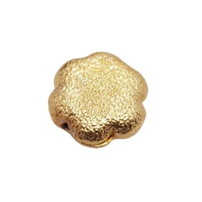 Perline ottone oro fiore diamantate 16 mm 1 pezzo