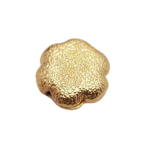 Perline In Ottone | Perline ottone oro fiore diamantate 16 mm 1 pezzo - Pza003