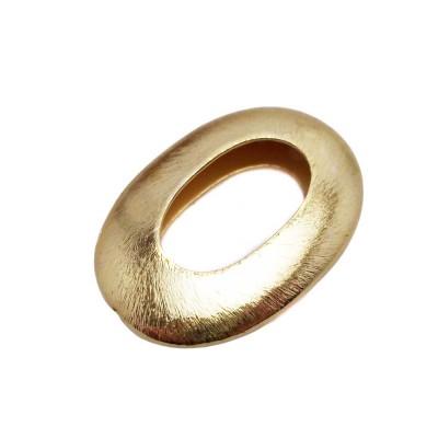 Perline ottone oro ovale 35.2 mm 1 pezzo
