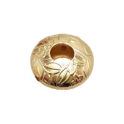 Perline ottone oro tonda decorato 17,2 mm 1 pezzo