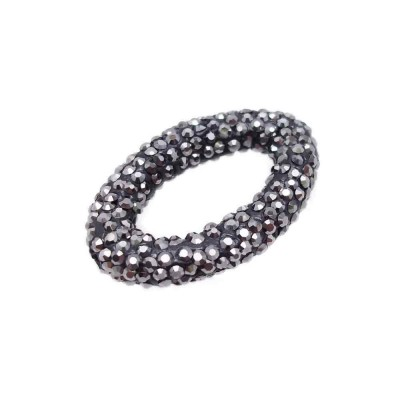 PERLINE PAVE' CON STRASS 33X22 MM PACCO 1 PZ