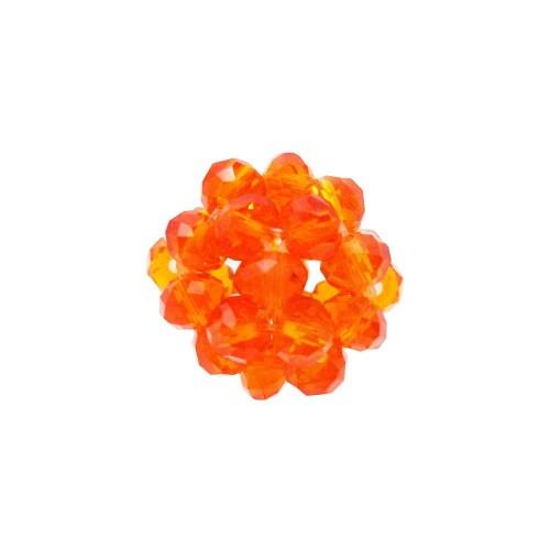Cristalli Palline | Perline tonde cristalli arancioni 15 mm pacco 1 pezzo - per3