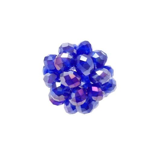 Cristalli Palline | Perline tonde cristalli blu con riflessi viola 15 mm pacco 1 pezzo - per2