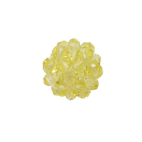Cristalli Palline | Perline tonde cristalli giallo chiaro 15 mm pacco 1 pezzo - per6