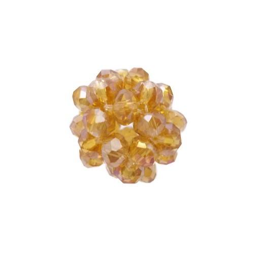 Cristalli Palline | Perline tonde cristalli marrone chiaro 15 mm pacco 1 pezzo - per12