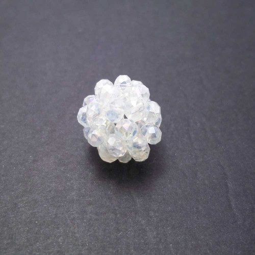 Cristalli Palline | Perline tonde cristalli trasparenti 15 mm pacco 1 pezzo - per1