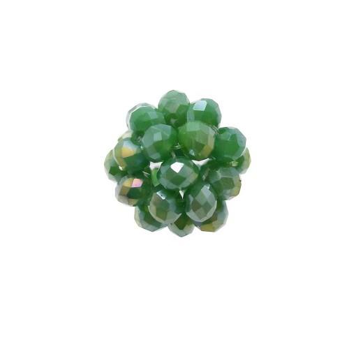 Cristalli Palline | Perline tonde cristalli verde A/B 15 mm pacco 1 pezzo - per8