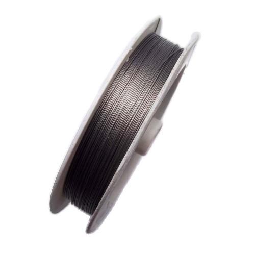 Filo in acciaio | Filo infila perle in acciaio rivestito 0.45 mm rotolo 100 mt - frx630