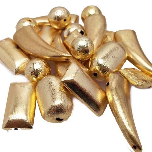 Materiale Per Bigiotteria Offerte | STOCK PERLE ZINCATE ORO 20 PEZZI - pz5510